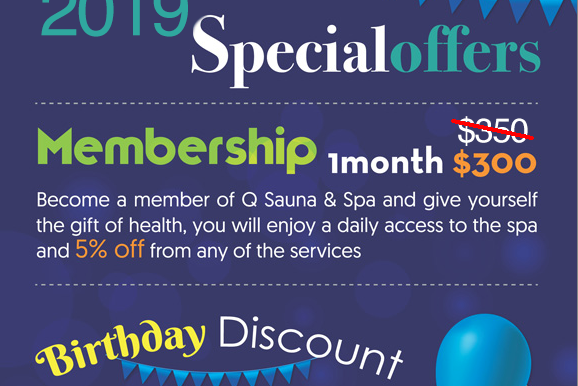 Enjoy Our Specials At Q Sauna & Spa Lynnwood
